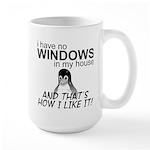 I Have No Windows Large Mug