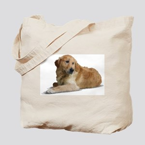Hand Painted Golden Retreiver Tote Bag