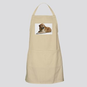 Hand Painted Golden Retreiver BBQ Apron