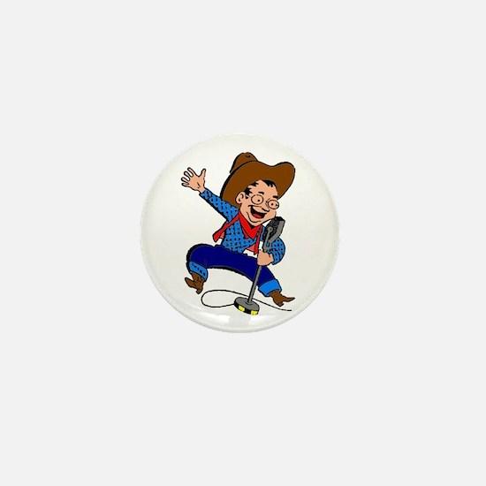 Radio Cowboy Mini Button