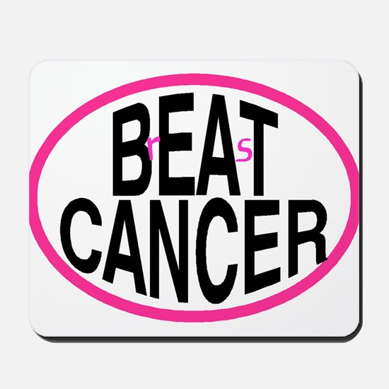 Beat Cancer + r&s - Mousepad