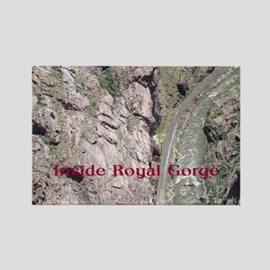Inside Royal Gorge Rectangle Magnet
