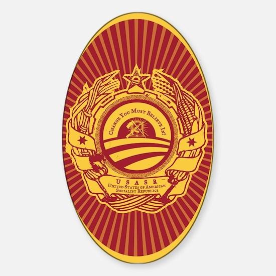 Obamunist Seal Oval Decal