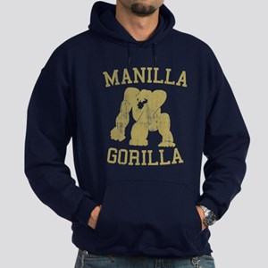 manilla gorilla mohammed ali retro Hoodie (dark)