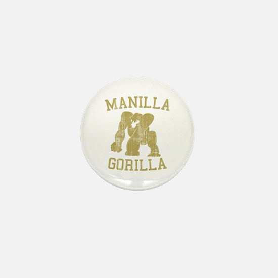 manilla gorilla mohammed ali retro Mini Button