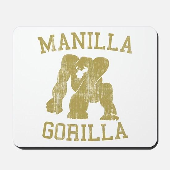 manilla gorilla mohammed ali retro Mousepad