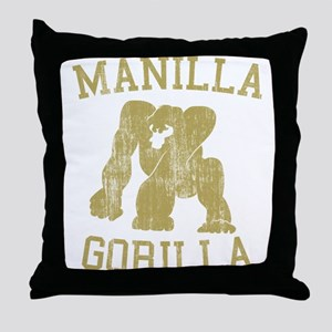 manilla gorilla mohammed ali retro Throw Pillow