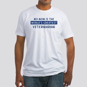Veterinarian Mom Fitted T-Shirt