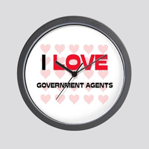 I LOVE GOVERNMENT AGENTS Wall Clock