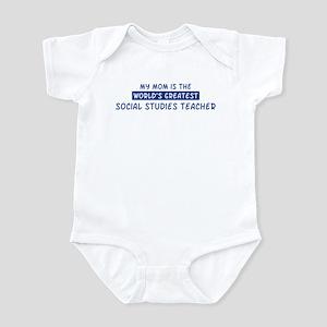 Social Studies Teacher Mom Infant Bodysuit