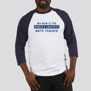 Math Teacher Mom Baseball Jersey