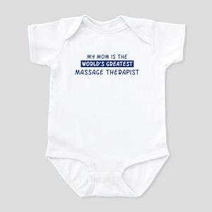 Massage Therapist Mom Infant Bodysuit