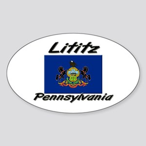 Lititz Pennsylvania Oval Sticker