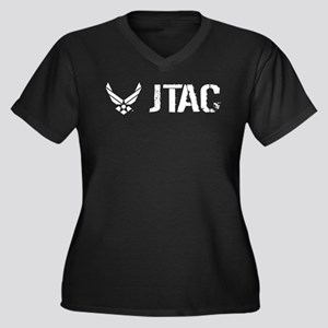 USAF: JTAC Women's Plus Size V-Neck Dark T-Shirt