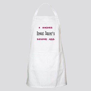 Kicked breast cancer's ass BBQ Apron