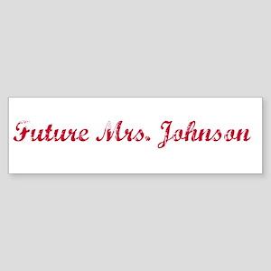 Future Mrs. Johnson Bumper Sticker
