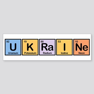 Ukraine Made of Elements Bumper Sticker