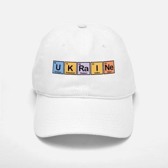 Ukraine Made of Elements Baseball Baseball Cap