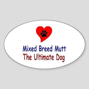 Mixed Breed Mutt Oval Sticker