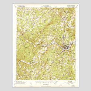 Altavista 1951 Topo Map Small Poster