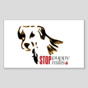 Stop Puppy Mills Rectangle Sticker
