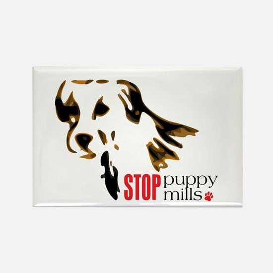 Stop Puppy Mills Rectangle Magnet