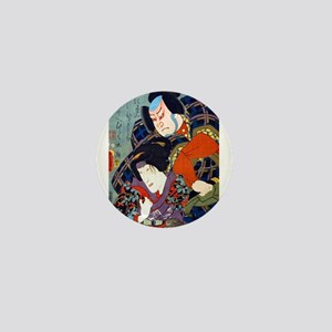 Double Kabuki Actor Portrait Mini Button