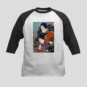 Double Kabuki Actor Portrait Kids Baseball Jersey