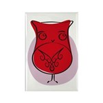 S&O Pensive Owl Rectangle Magnet (10 pack)