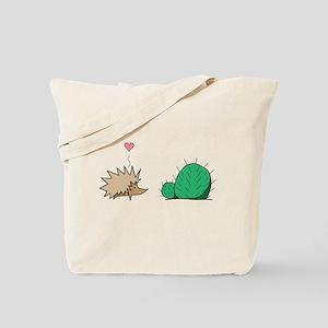 Hedgehog Loves Cactus Tote Bag