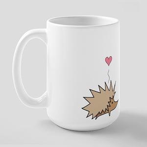Large Hedgehog Loves Cactus Mug