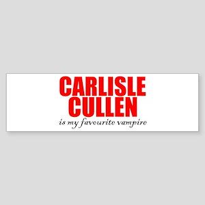 Carlisle my Favourite Vampire Bumper Sticker