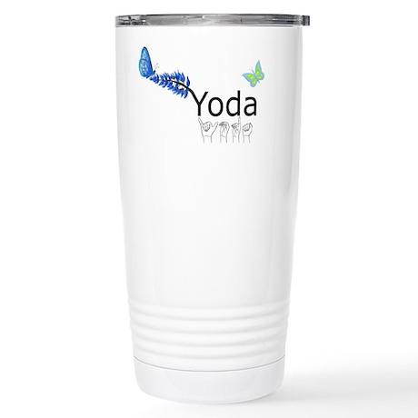 Yoda Fingerspelled Stainless Steel Travel Mug