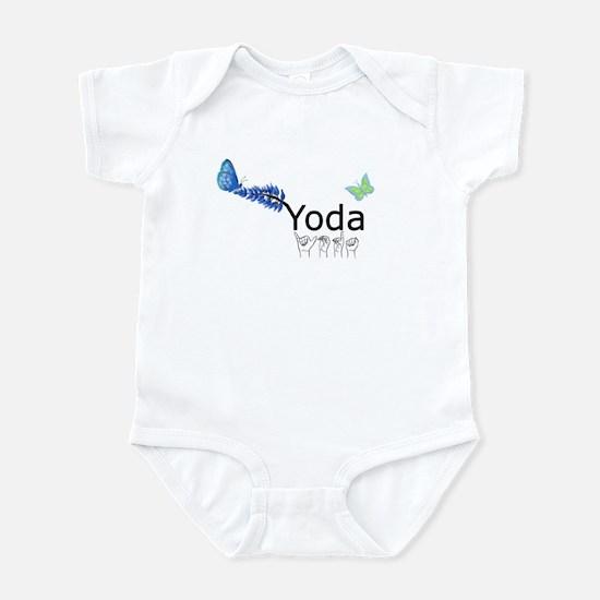 Yoda Fingerspelled Infant Bodysuit