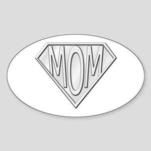 Super Mom Oval Sticker