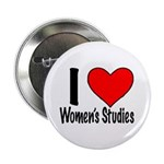 "2.25"" Button (10 pack) I heart Women's Studie"
