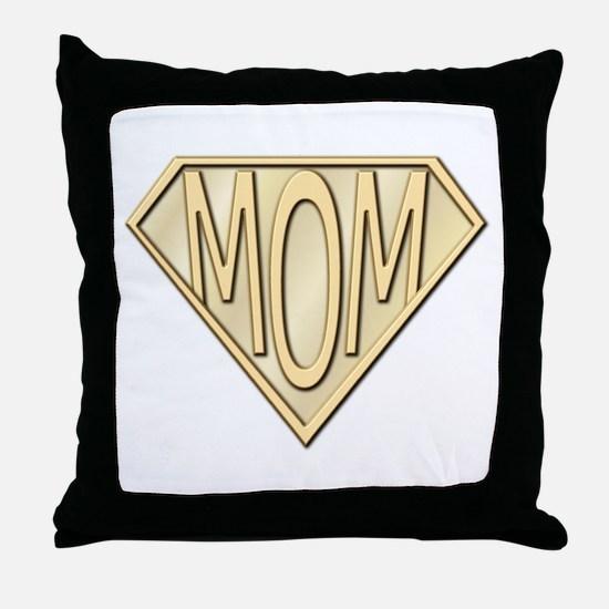Super Mom Throw Pillow