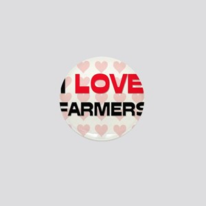 I LOVE FARMERS Mini Button