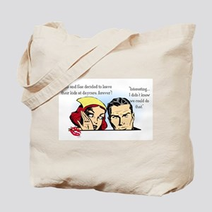 Retro Sarcastic Parenting Tote Bag