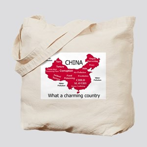 China, not your ordinary poll Tote Bag