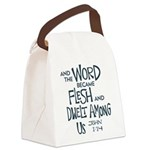 And the Word became Flesh Canvas Lunch Bag