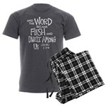 And the Word became Flesh Men's Charcoal Pajamas
