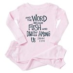 And the Word became Flesh Toddler Pink Pajamas