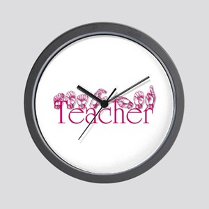 Teacher-pnk Wall Clock