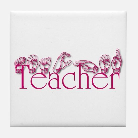 Teacher-pnk Tile Coaster