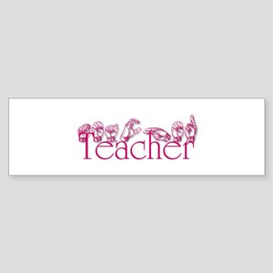 Teacher-pnk Bumper Sticker