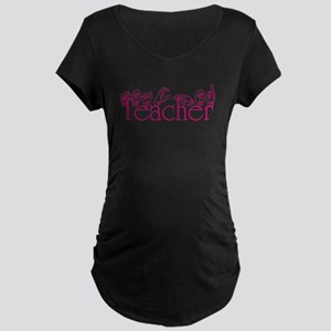Teacher-pnk Maternity Dark T-Shirt