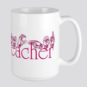 Teacher-pnk Large Mug