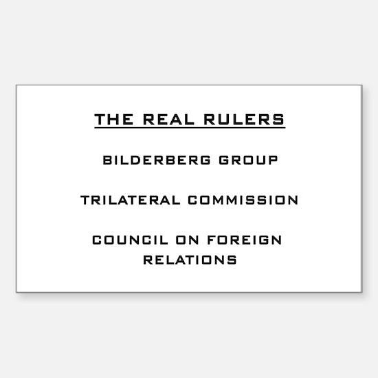 Bilderberg Sticker (Rectangle)