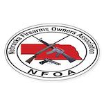 NFOA Oval Sticker